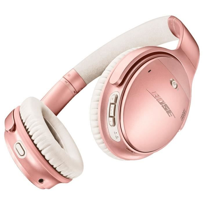 Bose QuietComfort 35 II ROSE GOLD avec micro pleine taille Bluetooth sans fil NFC* Suppresseur de bruit actif jack 3,5mm isolation…