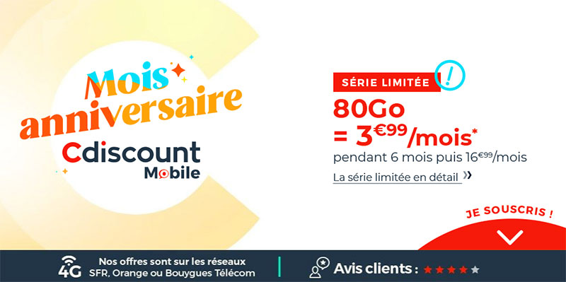 offre cdiscount mobile